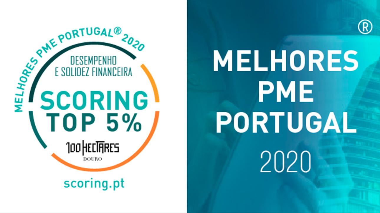 """Distinção """"TOP 5% MELHORES PME DE PORTUGAL"""", edição 2020"""